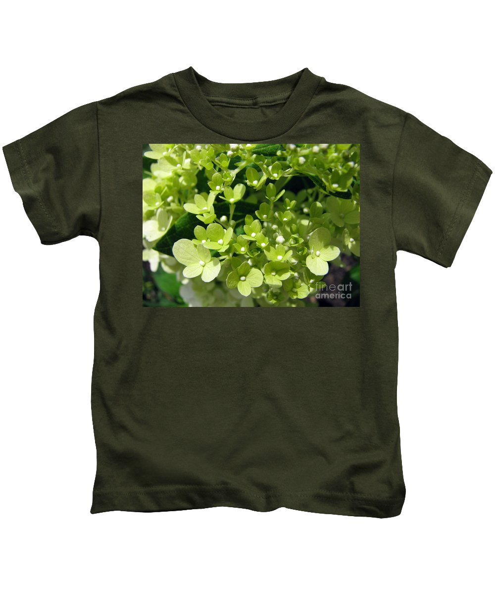 Hydrangea Kids T-Shirt featuring the photograph Hydrangea by Amanda Barcon