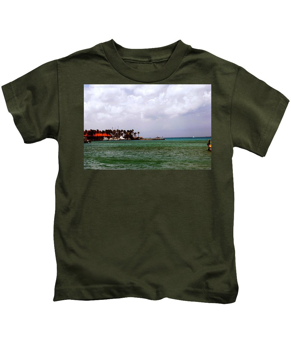 Harbor Kids T-Shirt featuring the photograph Island Harbor by Gary Wonning