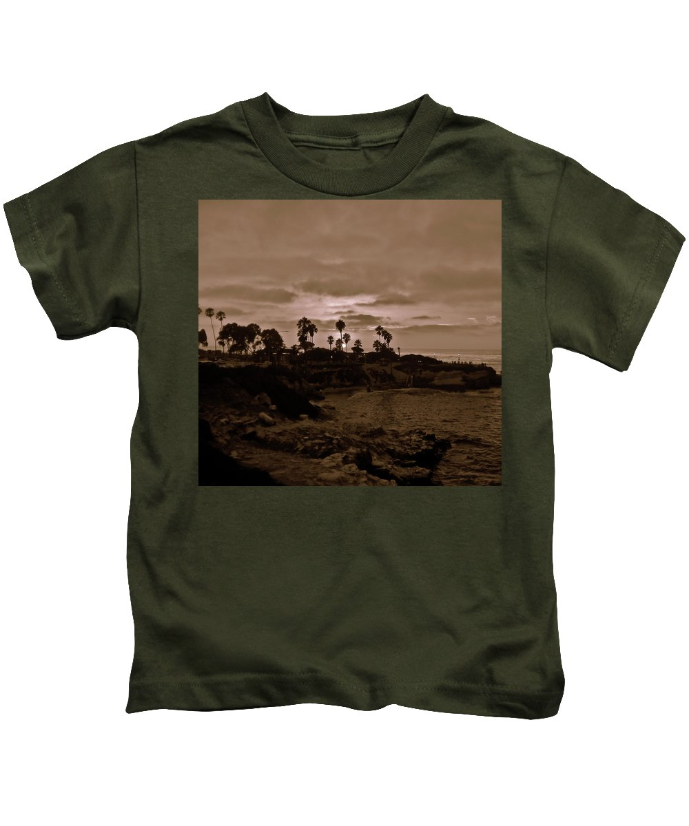 Children's Pool Kids T-Shirt featuring the photograph La Jolla Sunset by Bridgette Gomes