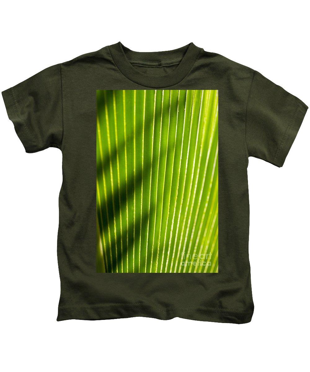 Botanical Kids T-Shirt featuring the photograph Leaf Close-up by Tomas del Amo - Printscapes