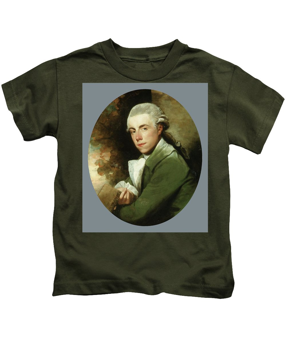 Man In A Green Coat Kids T-Shirt featuring the painting Man In A Green Coat by Gilbert Stuart