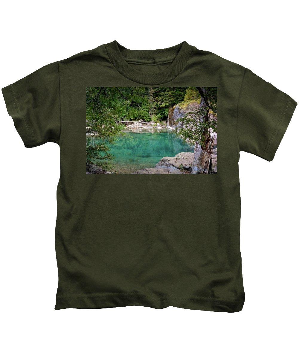 Mcdonald Creek Kids T-Shirt featuring the photograph Mcdonald Creek 10 by Marty Koch