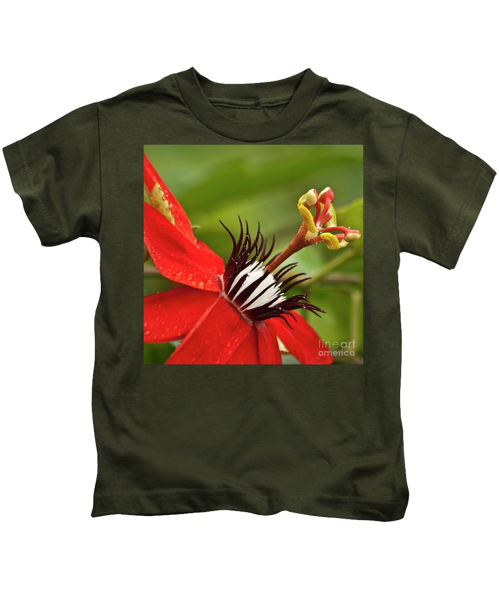 Nature Kids T-Shirt featuring the photograph Passionate Flower by Heiko Koehrer-Wagner