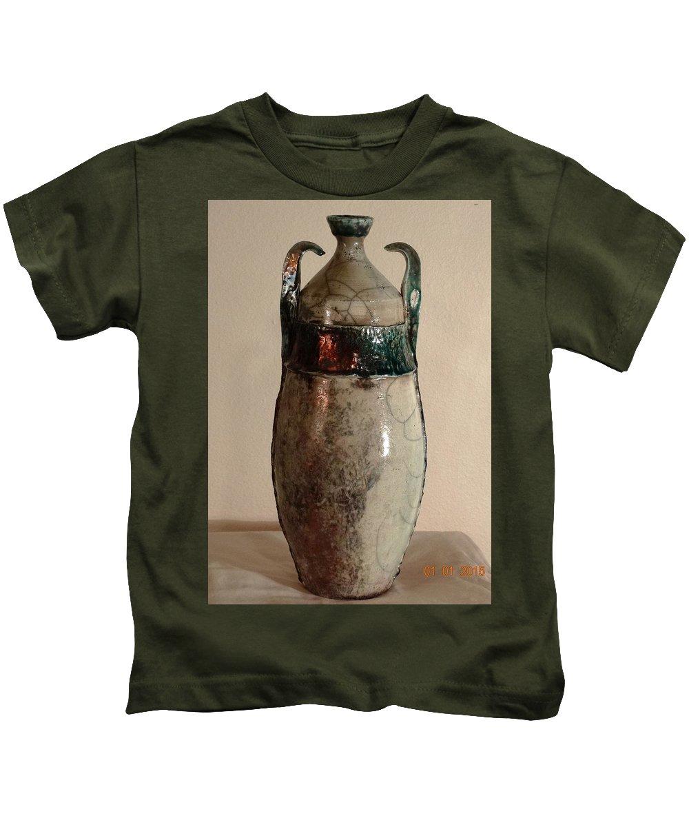 Kids T-Shirt featuring the ceramic art Raku by Bassam Philip Bansit