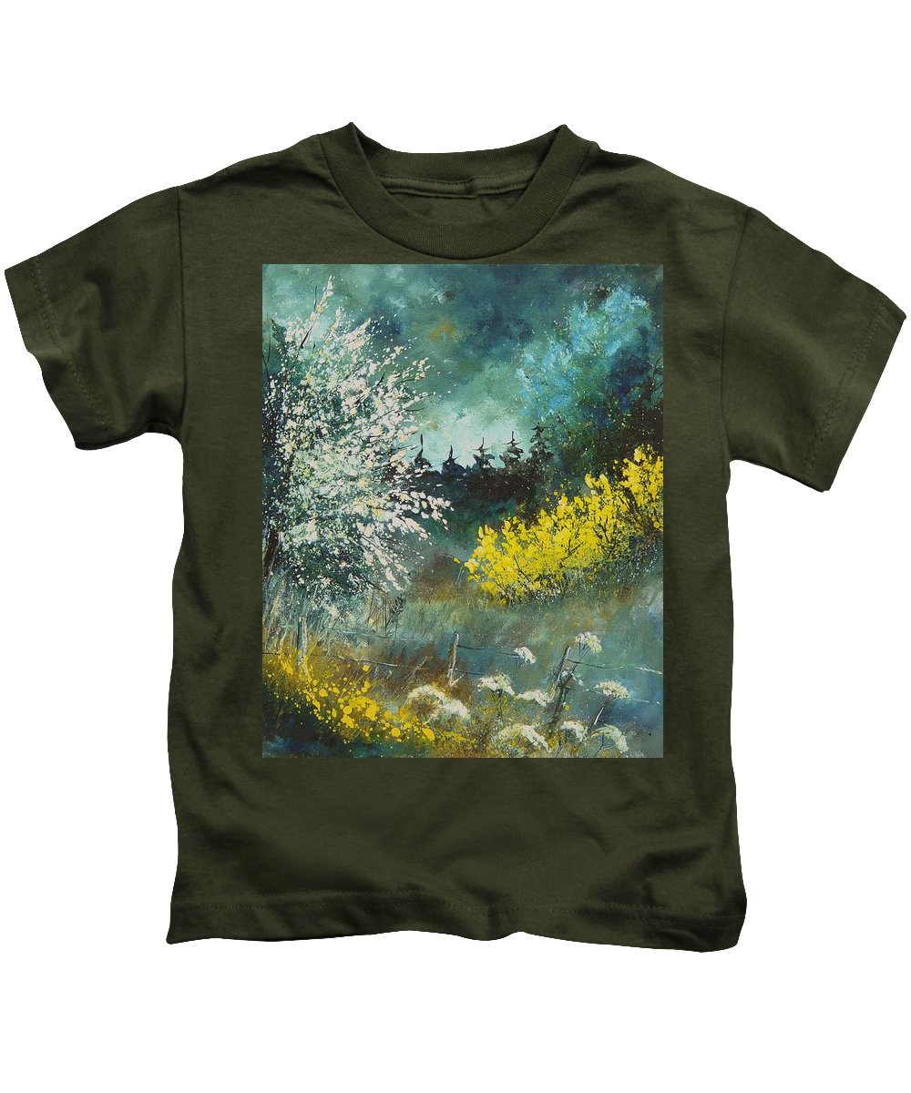 Spring Kids T-Shirt featuring the painting Spring by Pol Ledent