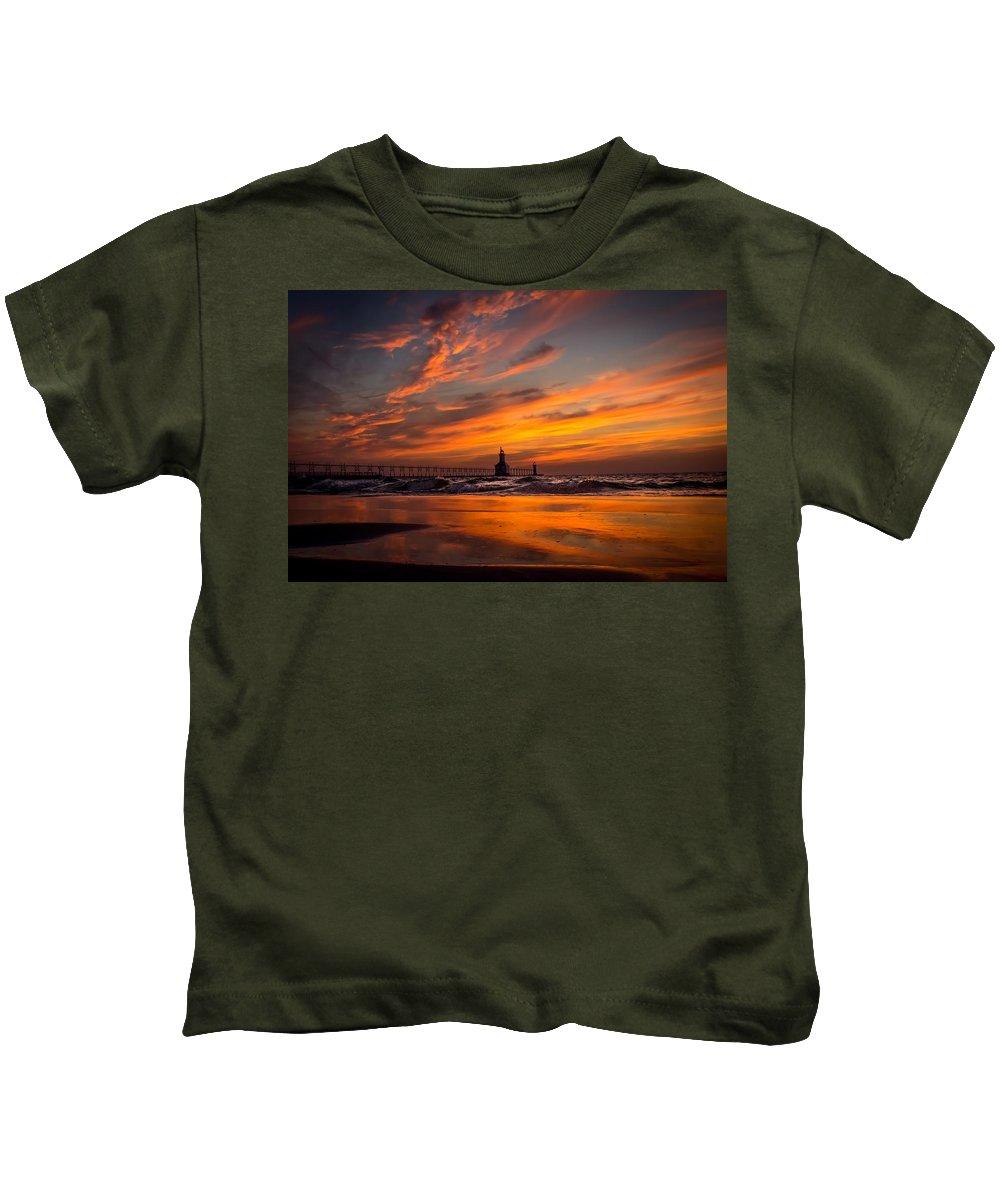 Kids T-Shirt featuring the photograph Tiscornia Beach - St. Joseph by Molly Pate