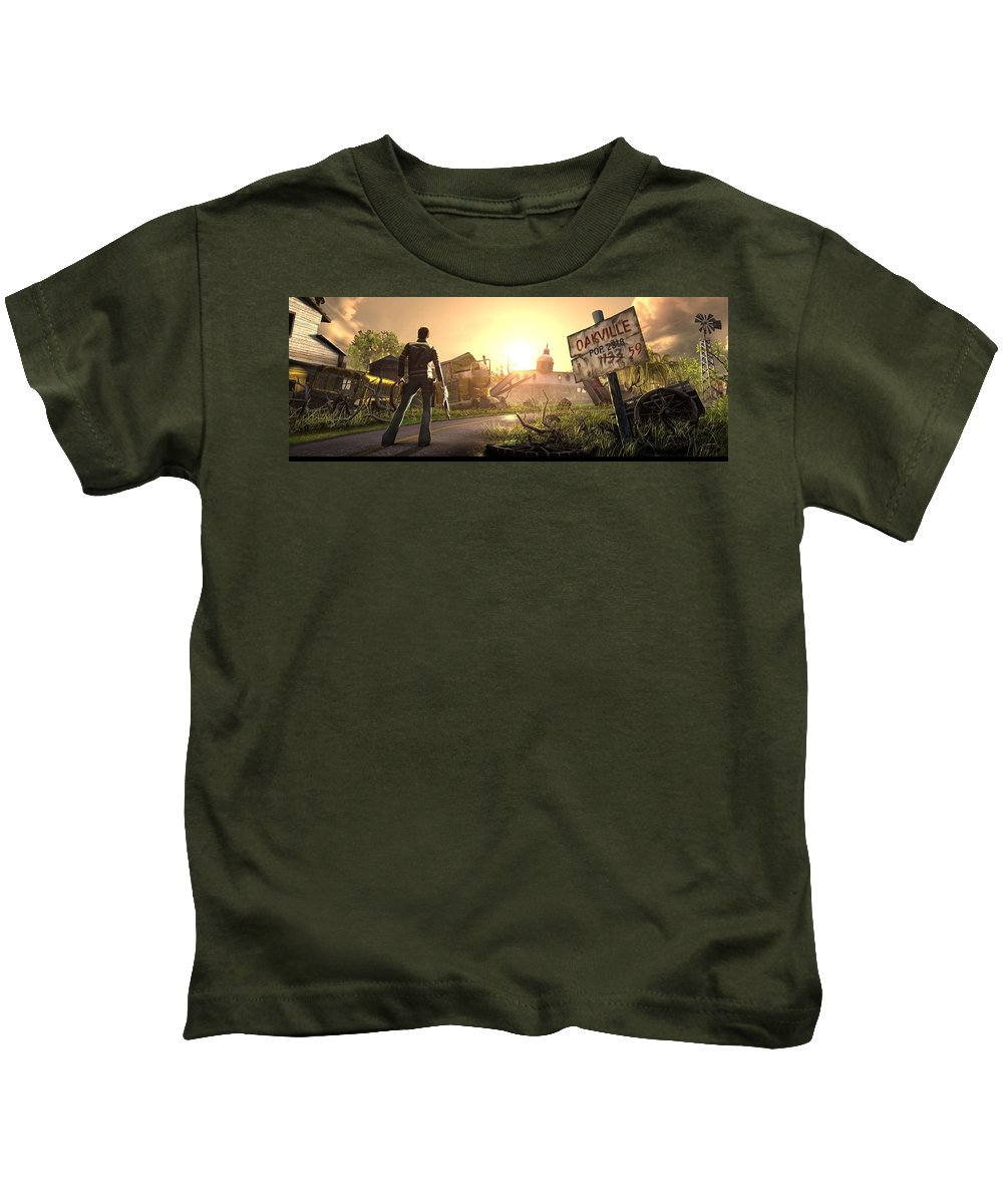 Video Game Kids T-Shirt featuring the digital art Video Game by Dorothy Binder