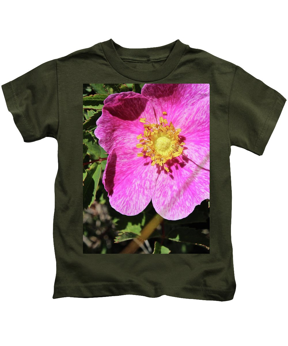 Wild Kids T-Shirt featuring the photograph Wild Rose by Ann E Robson
