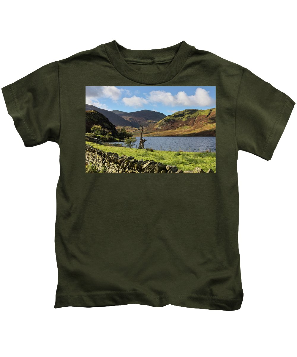 Crummock Water Kids T-Shirt featuring the photograph Crummock Water by Graham Moore