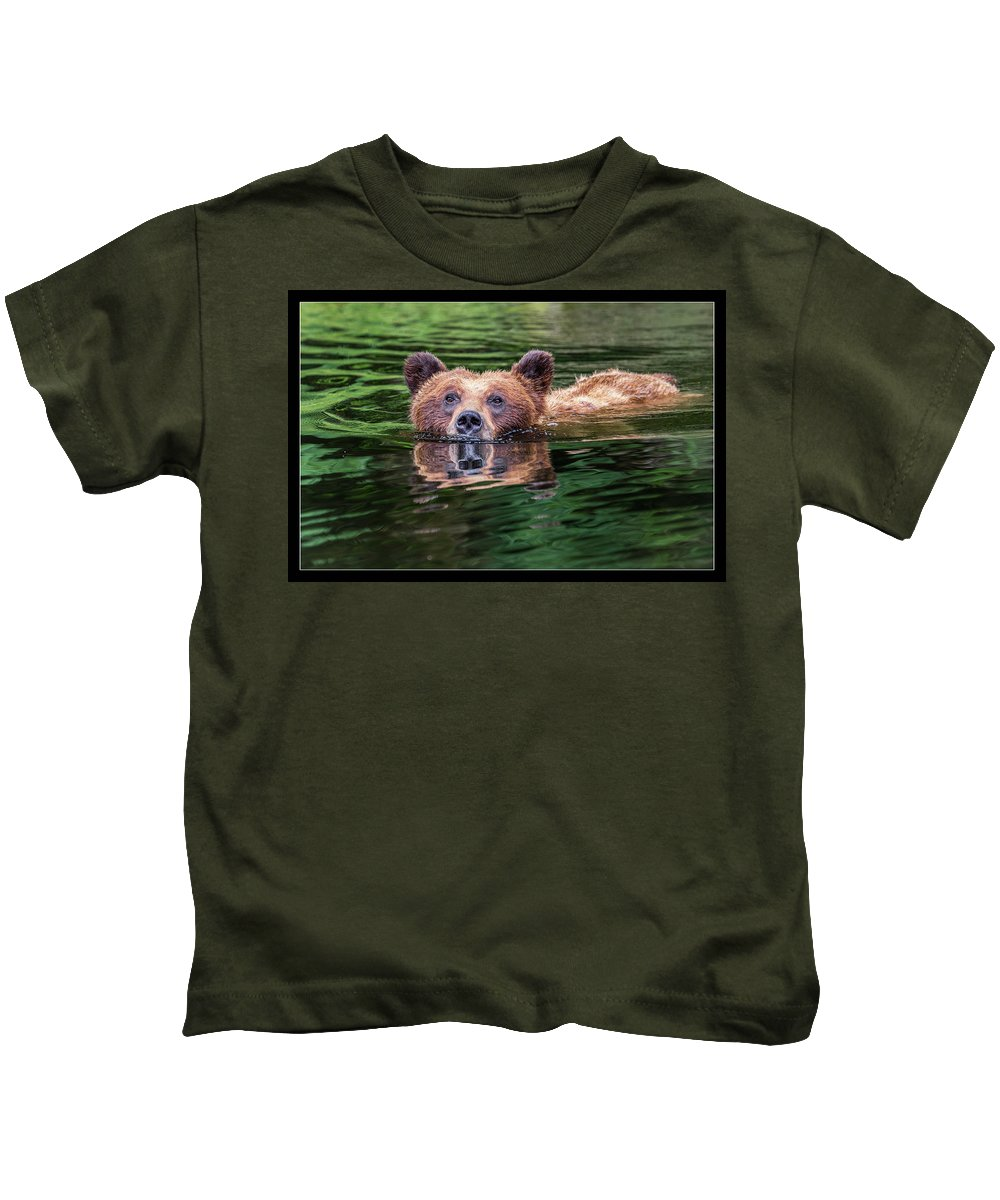 Grizzly Kids T-Shirt featuring the photograph 26 by J and j Imagery