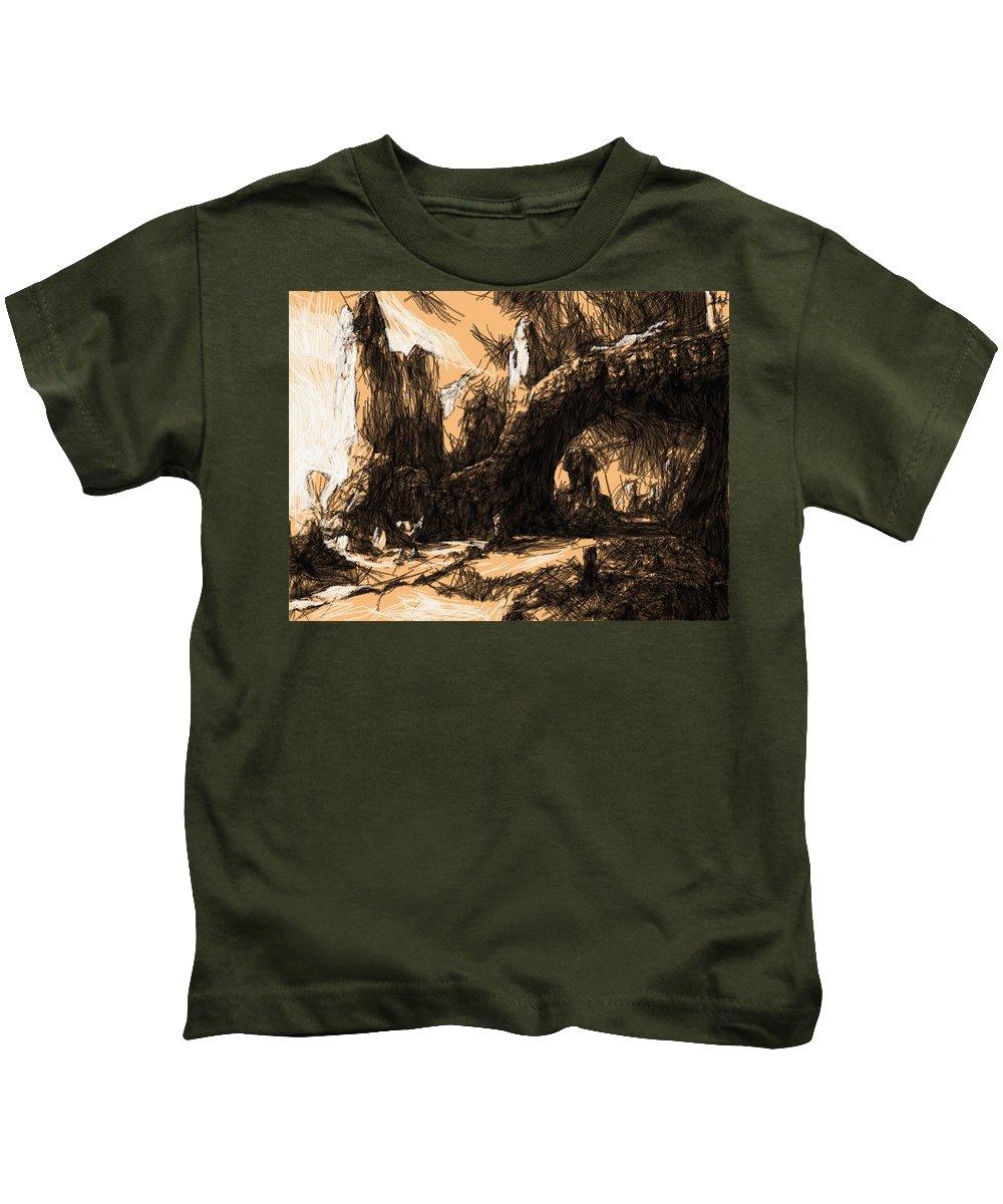 Star Wars Kids T-Shirt featuring the digital art Vintage Star Wars Poster by Larry Jones