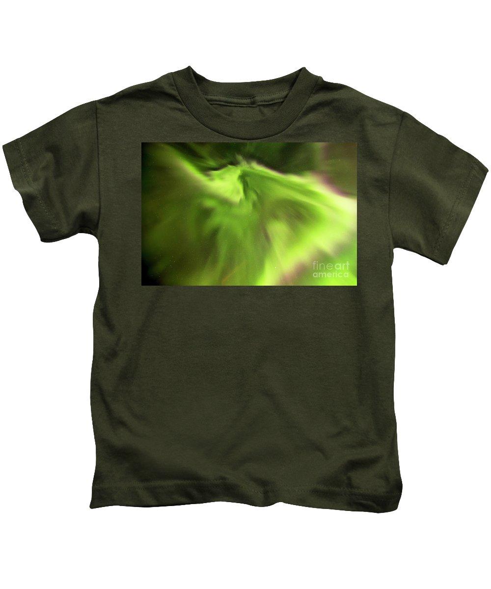 Iceland Kids T-Shirt featuring the photograph Abstract Aurora by Gunnar Orn Arnason
