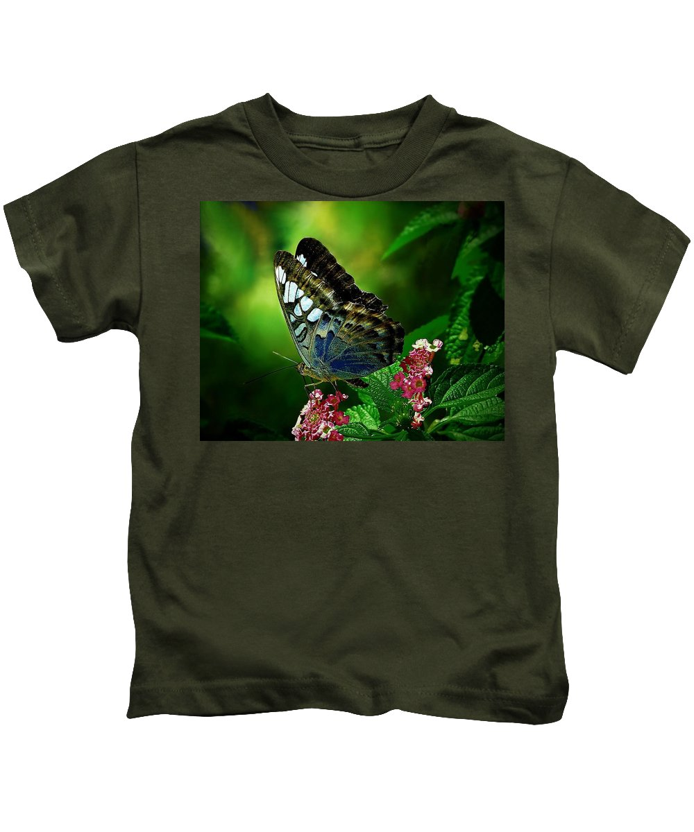 Butterfly Kids T-Shirt featuring the digital art Butterfly by Dorothy Binder