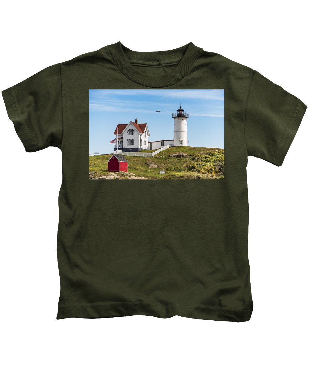 Light Kids T-Shirt featuring the photograph Cape Neddick Lighthouse by Enrico Della Pietra