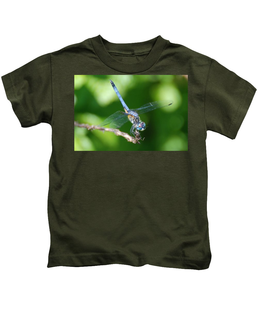 Dragonfly Kids T-Shirt featuring the photograph Dragon Fly by Rob Hans