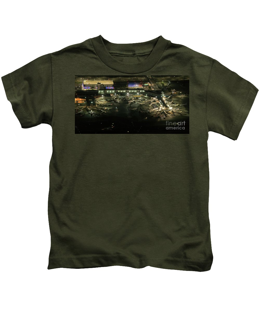 Lga Kids T-Shirt featuring the photograph Laguardia Airport Aerial View by David Oppenheimer