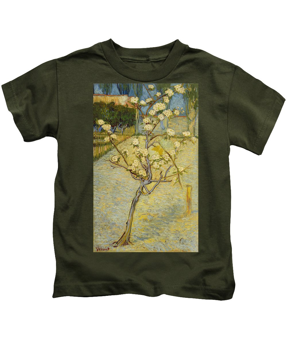 Dutch Kids T-Shirt featuring the painting Small Pear Tree In Blossom by Vincent van Gogh