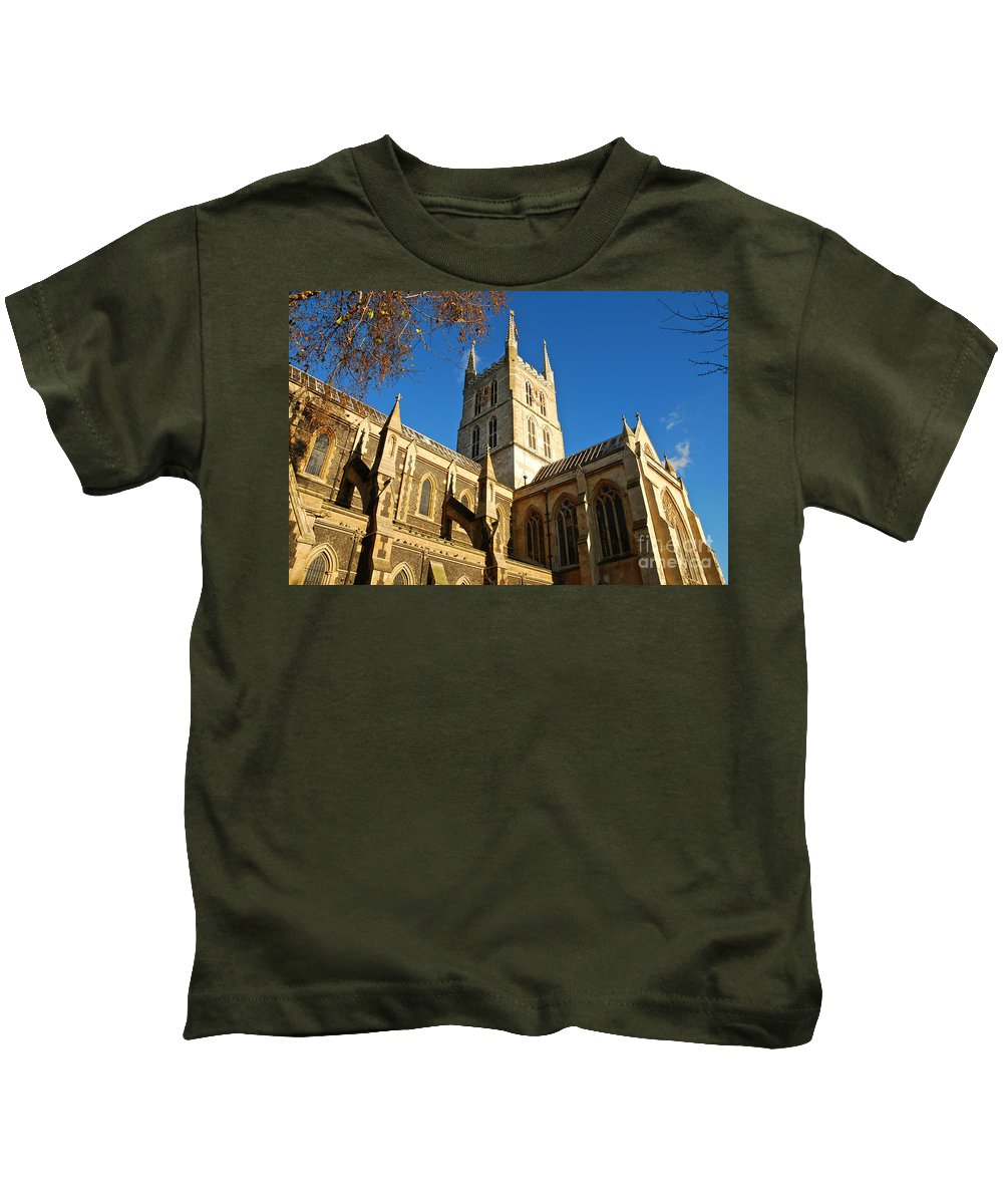 Southwark Cathedral Kids T-Shirt featuring the photograph Southwark Cathedral by Kayme Clark