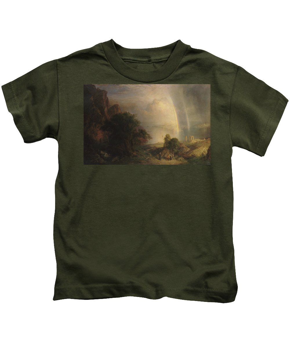 The Aegean Sea Kids T-Shirt featuring the painting The Aegean Sea by Frederic Edwin