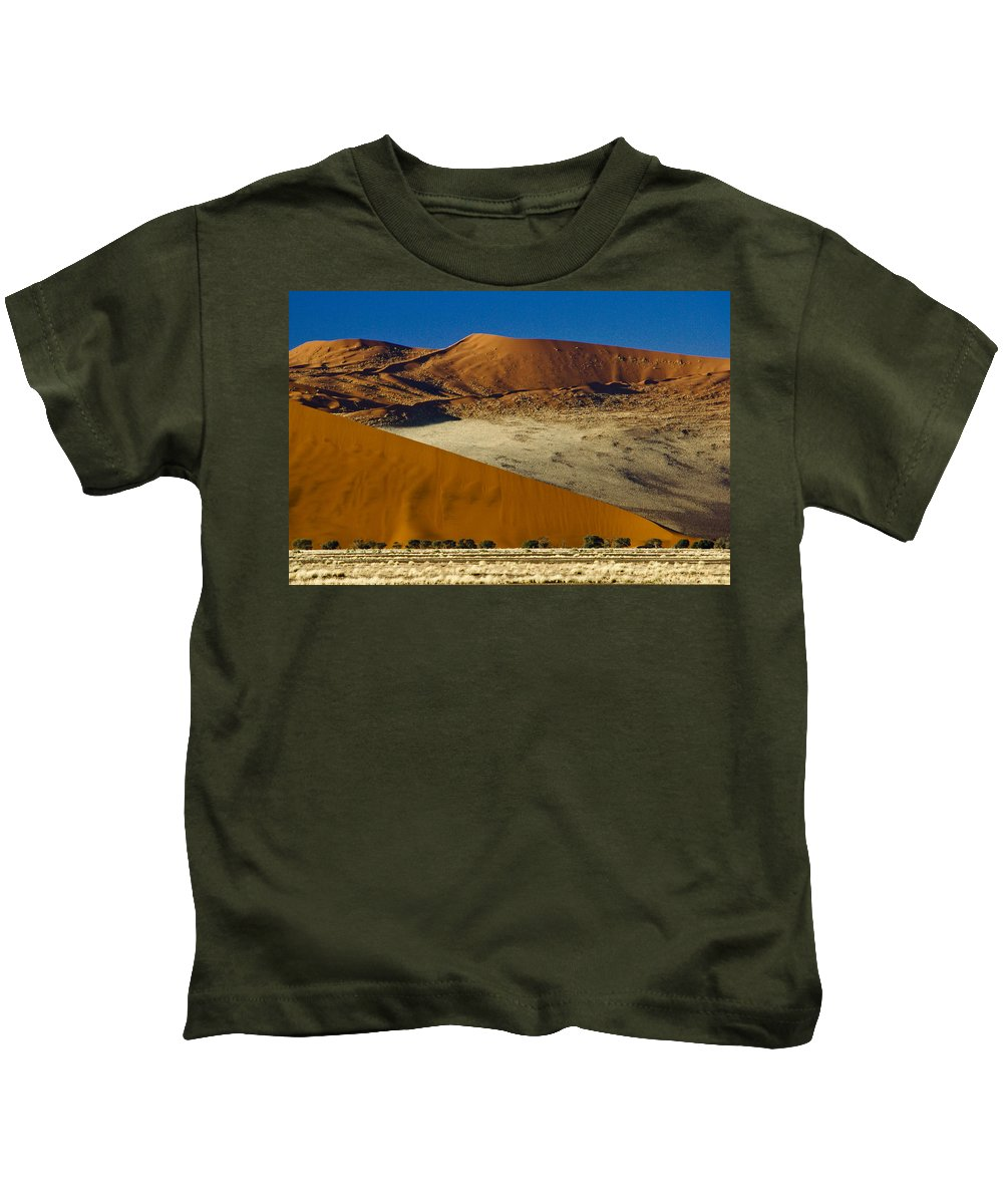 Africa Kids T-Shirt featuring the photograph The Dunes Of Sossusvlei by Michele Burgess