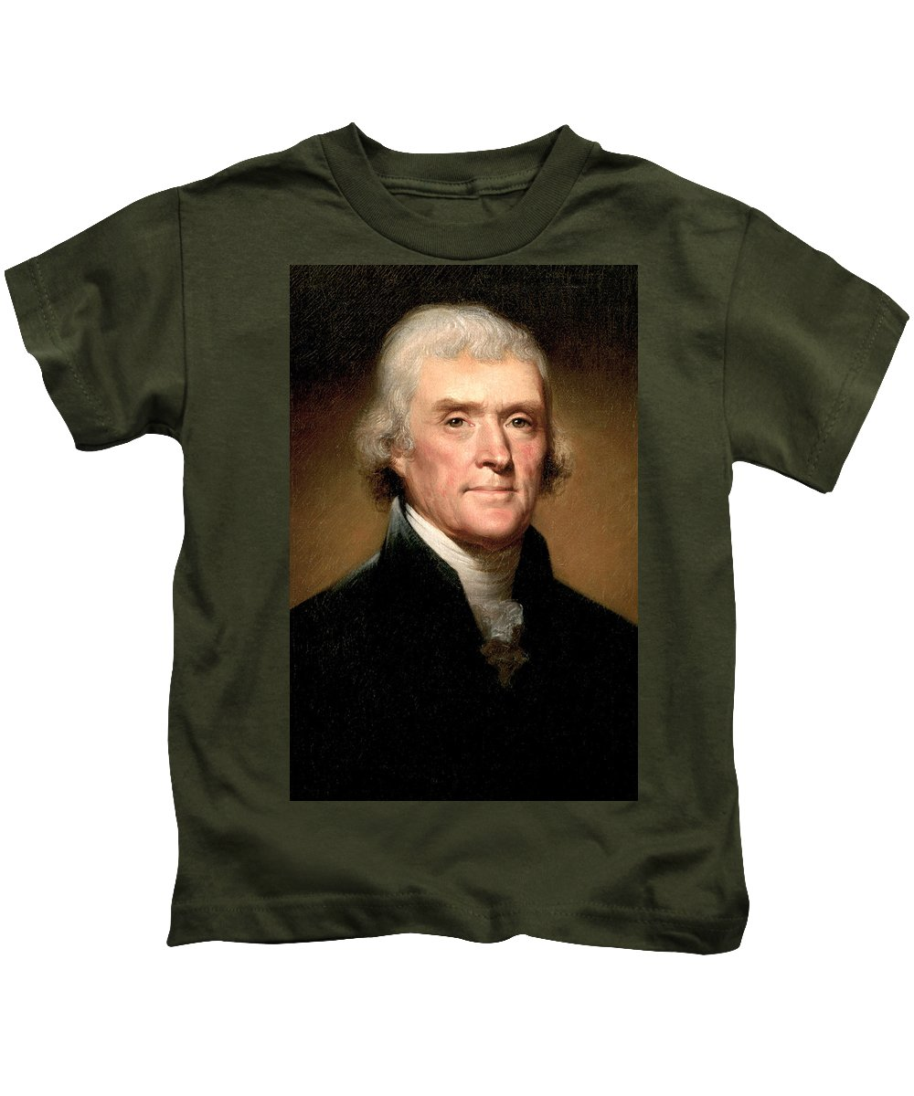 Thomas Jefferson Kids T-Shirt featuring the painting Thomas Jefferson by Rembrandt Peale