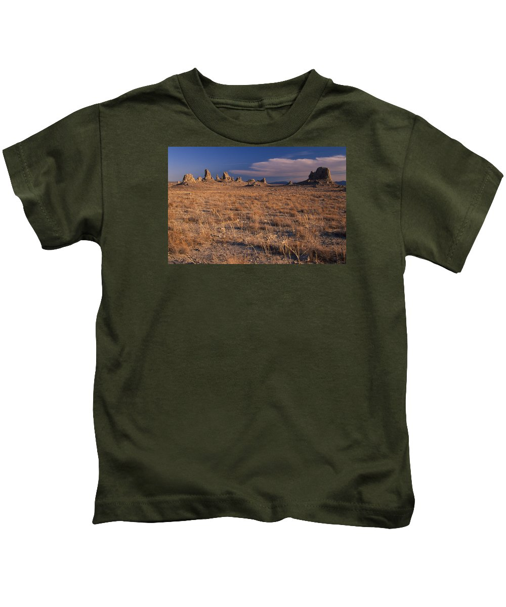 Searless Valley Kids T-Shirt featuring the photograph Trona Pinnacles by Soli Deo Gloria Wilderness And Wildlife Photography