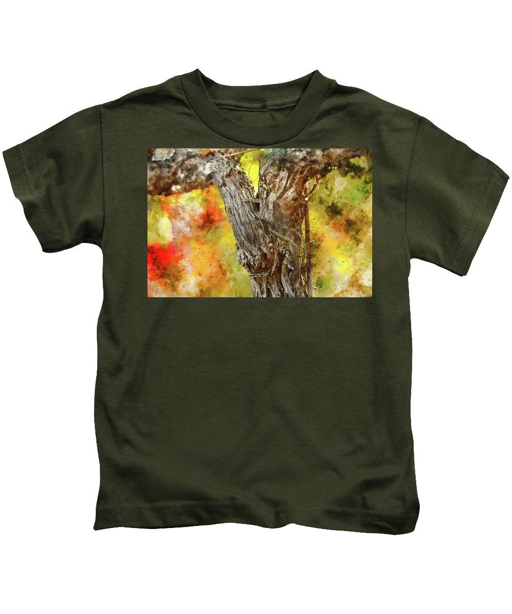 Red Wine Kids T-Shirt featuring the photograph Vine by Brandon Bourdages