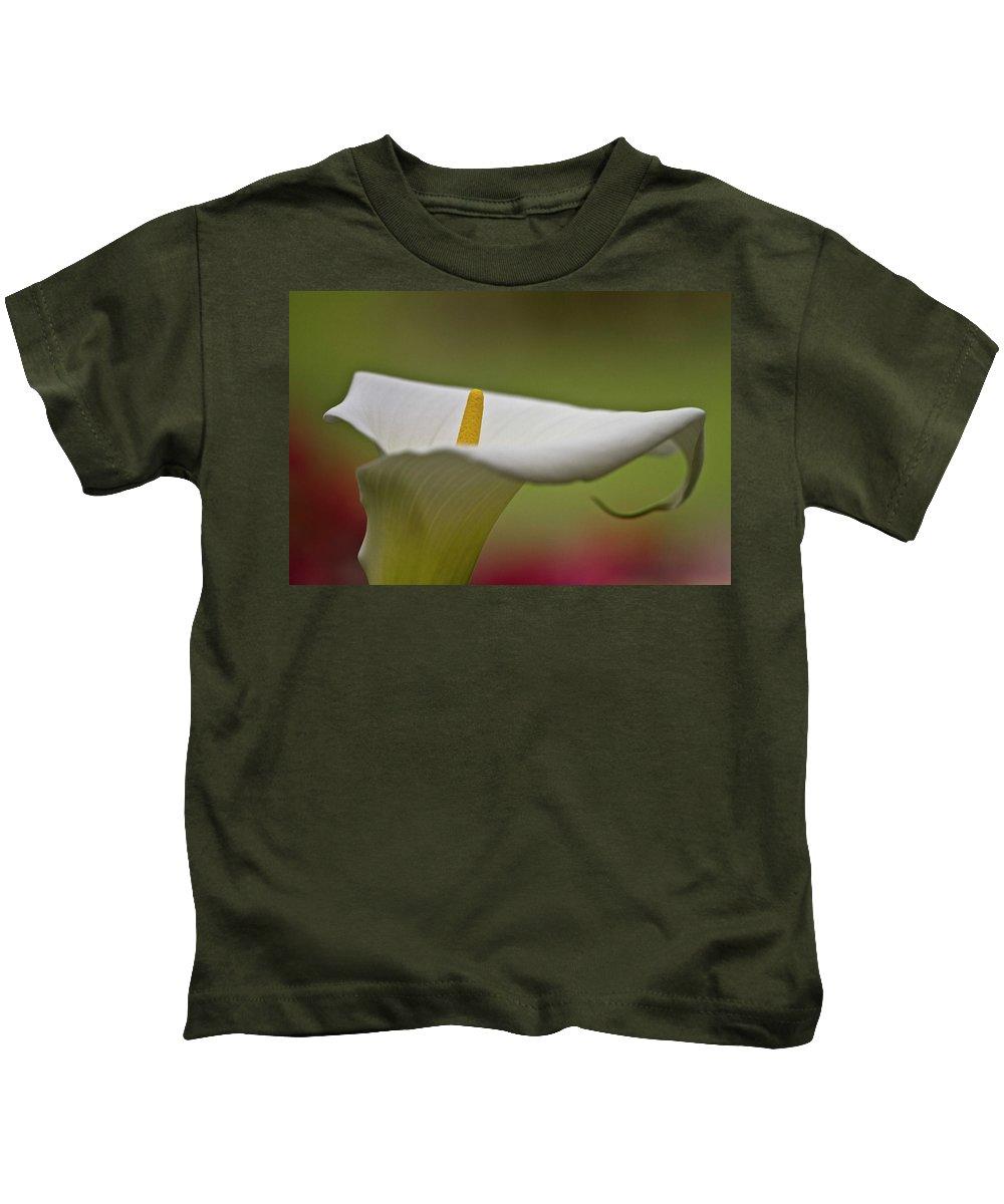 Calla Kids T-Shirt featuring the photograph White Calla by Heiko Koehrer-Wagner