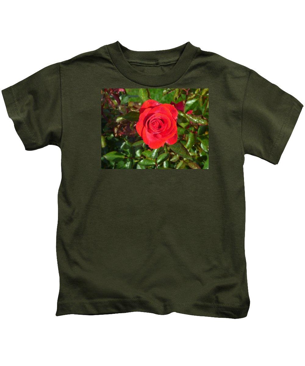 Flower Garden Idaho Photography Kids T-Shirt featuring the photograph La Vie En Rose by Paul Stanner