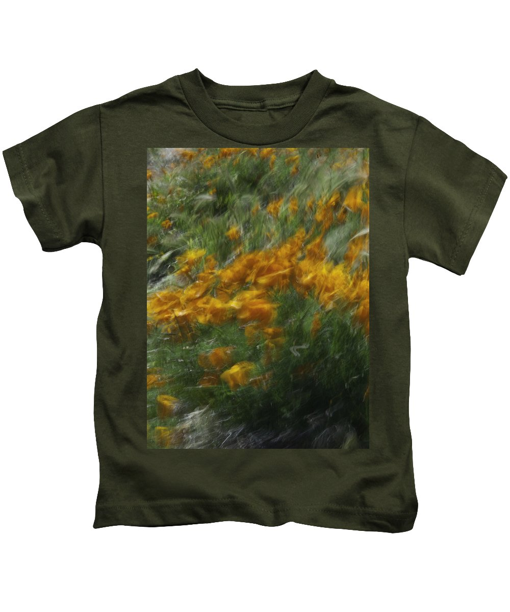 Flowers. Poppies. Kids T-Shirt featuring the photograph 341 by Garth Pillsbury