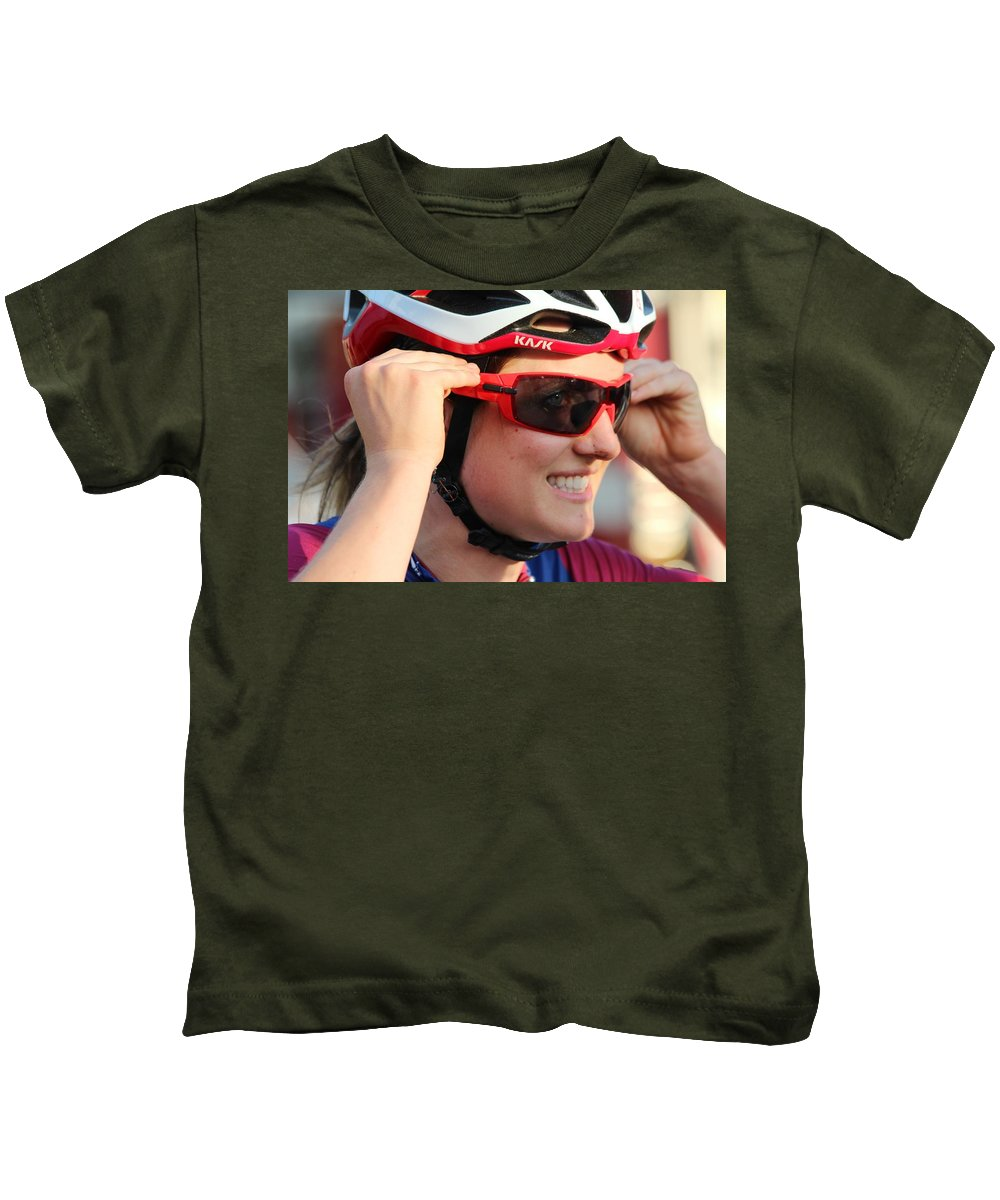 Cycle Racing Kids T-Shirt featuring the photograph 2016 Longsjo Classic by Donn Ingemie