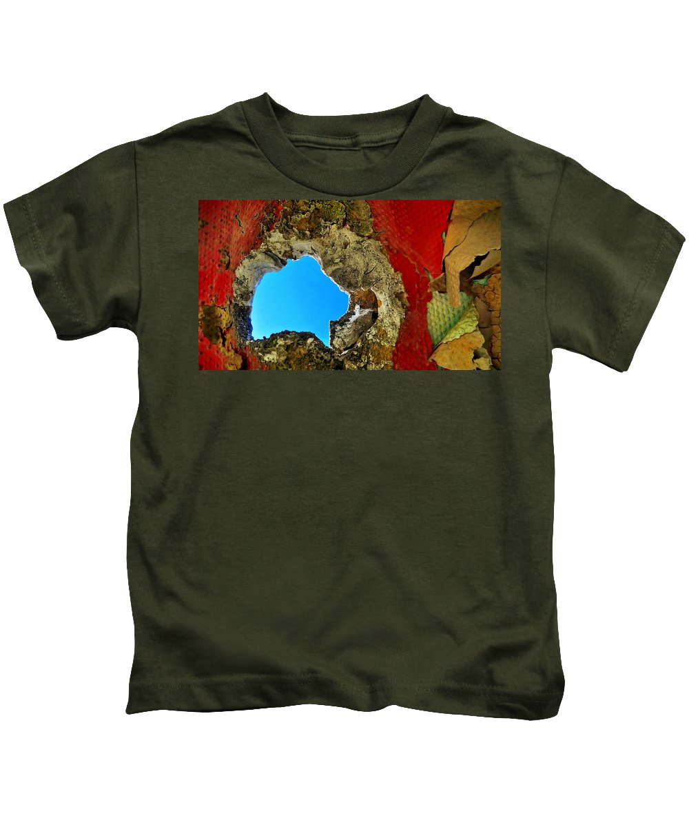 Abstract Kids T-Shirt featuring the photograph 377 At 41 Series 4 by Skip Hunt