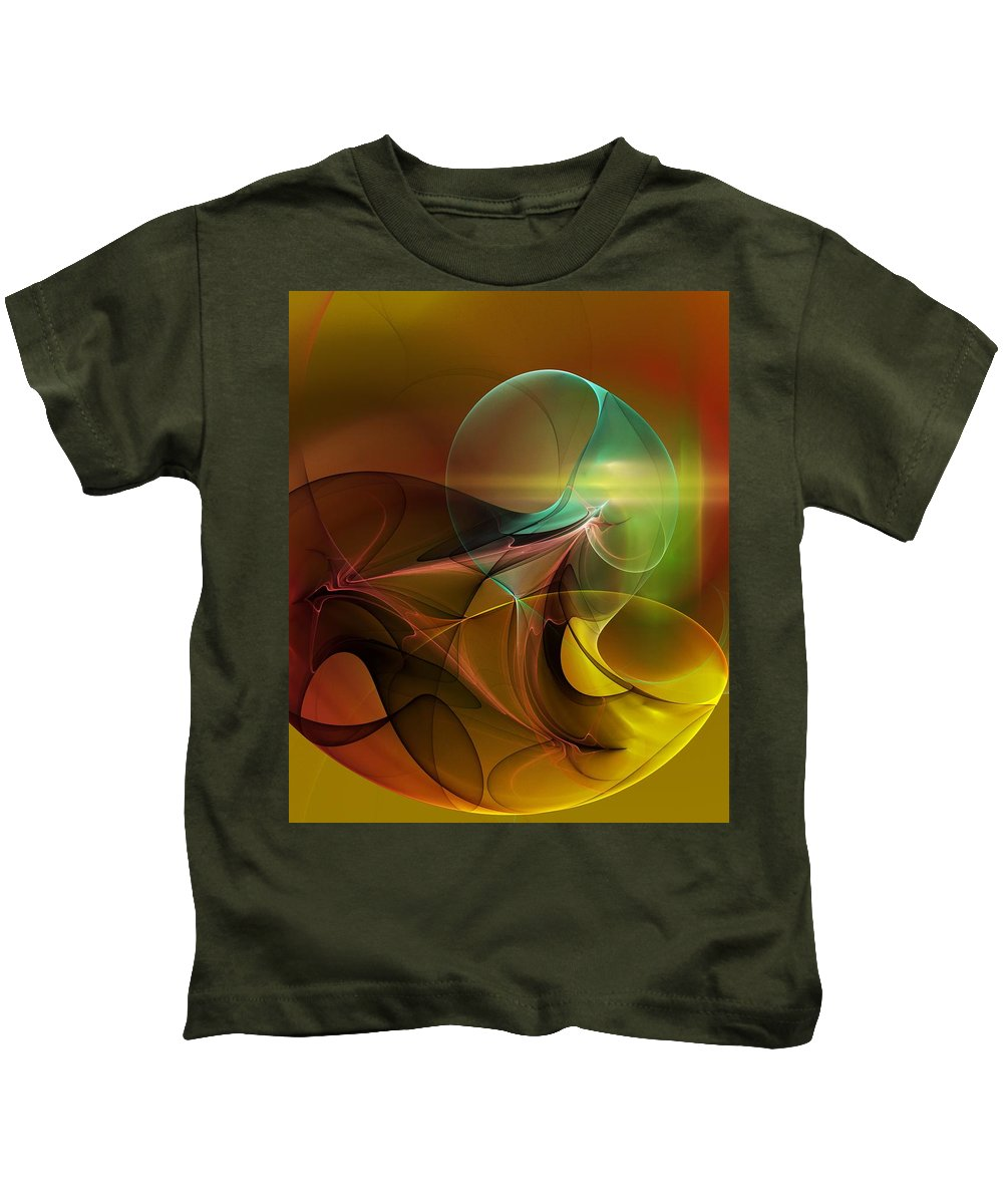 Digital Painting Kids T-Shirt featuring the digital art 4-3-10aa by David Lane