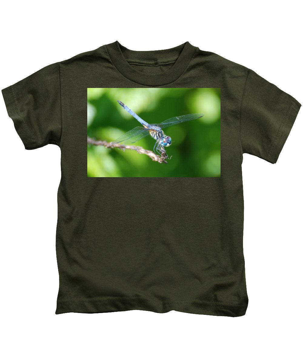 Nature Kids T-Shirt featuring the photograph Dragon Fly by Rob Hans