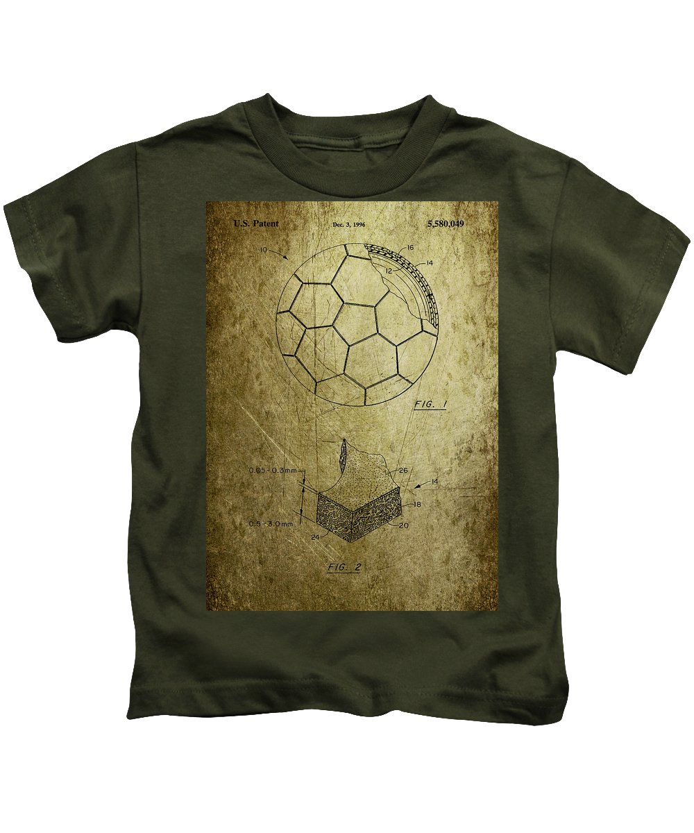 Football Kids T-Shirt featuring the photograph Football Patent by Chris Smith