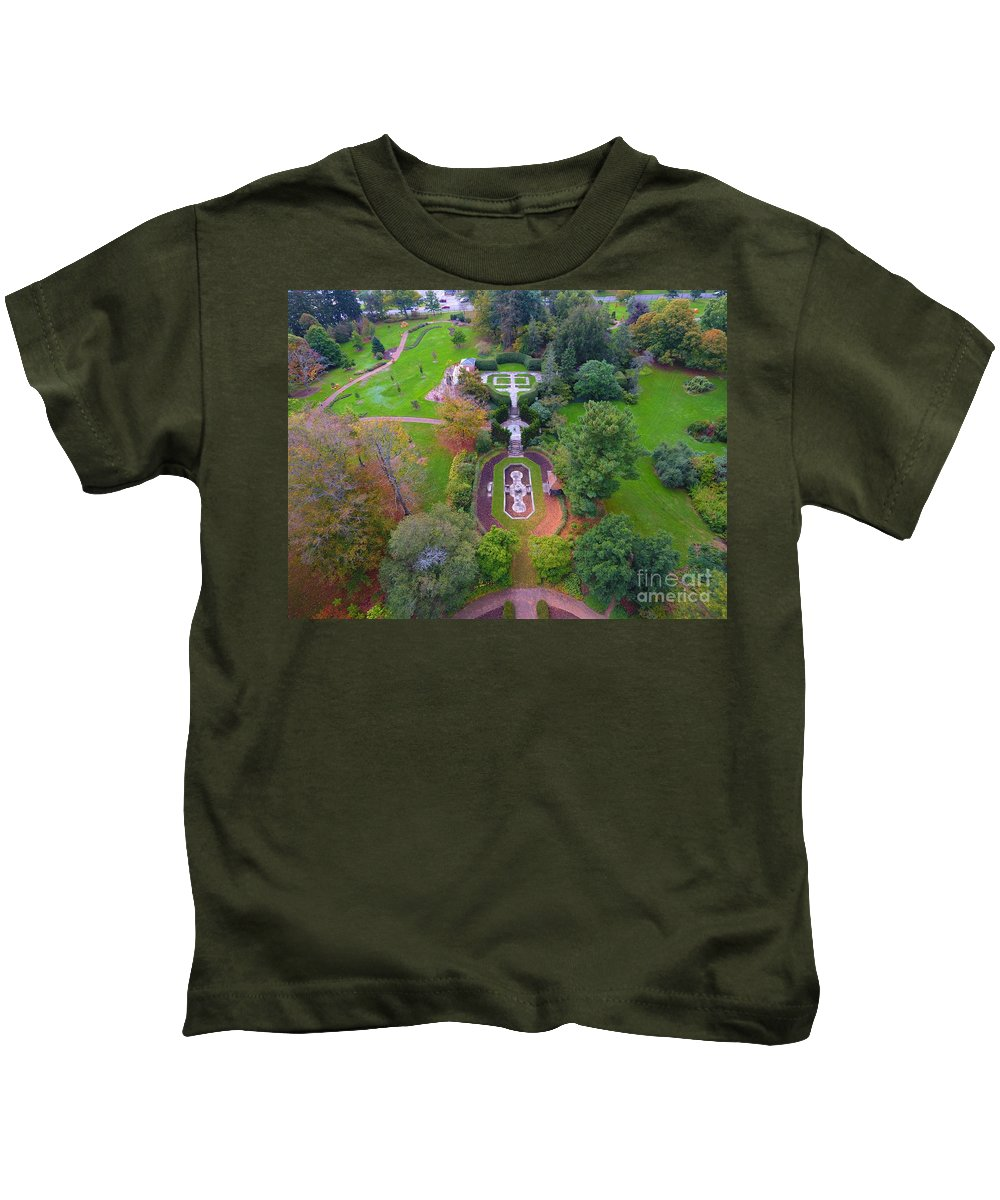 Kingwood Center Gardens Kids T-Shirt featuring the photograph Kingwood Center Gardens by Timeless Aerial Photography LLC