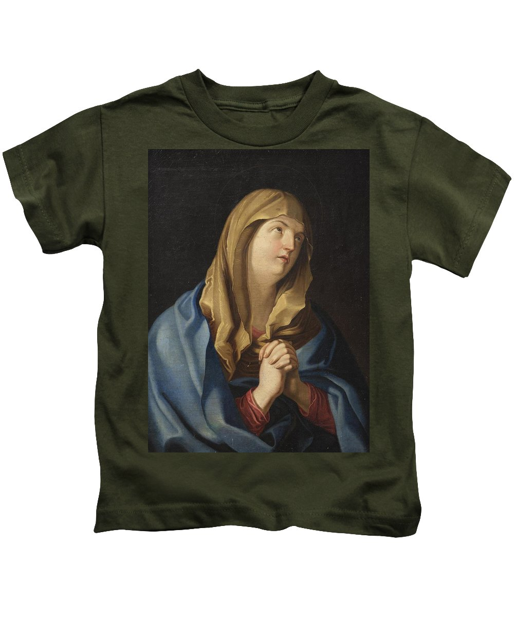M�nes Kids T-Shirt featuring the painting Madonna by MotionAge Designs