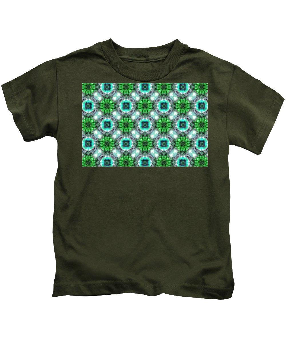 Marjan Mencin Kids T-Shirt featuring the digital art Arabesque by Marjan Mencin