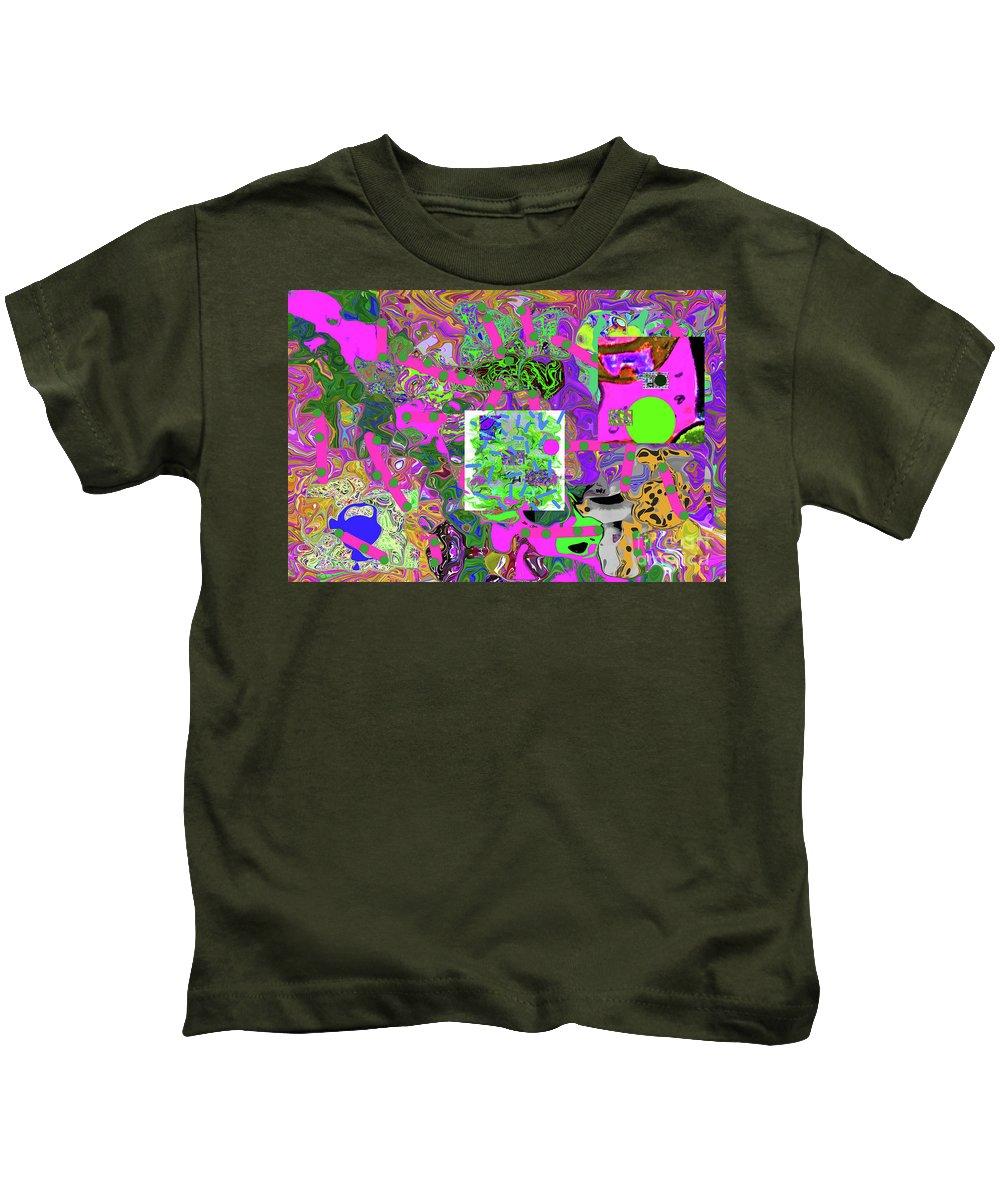 Walter Paul Bebirian Kids T-Shirt featuring the digital art 5-24-2015dabcde by Walter Paul Bebirian