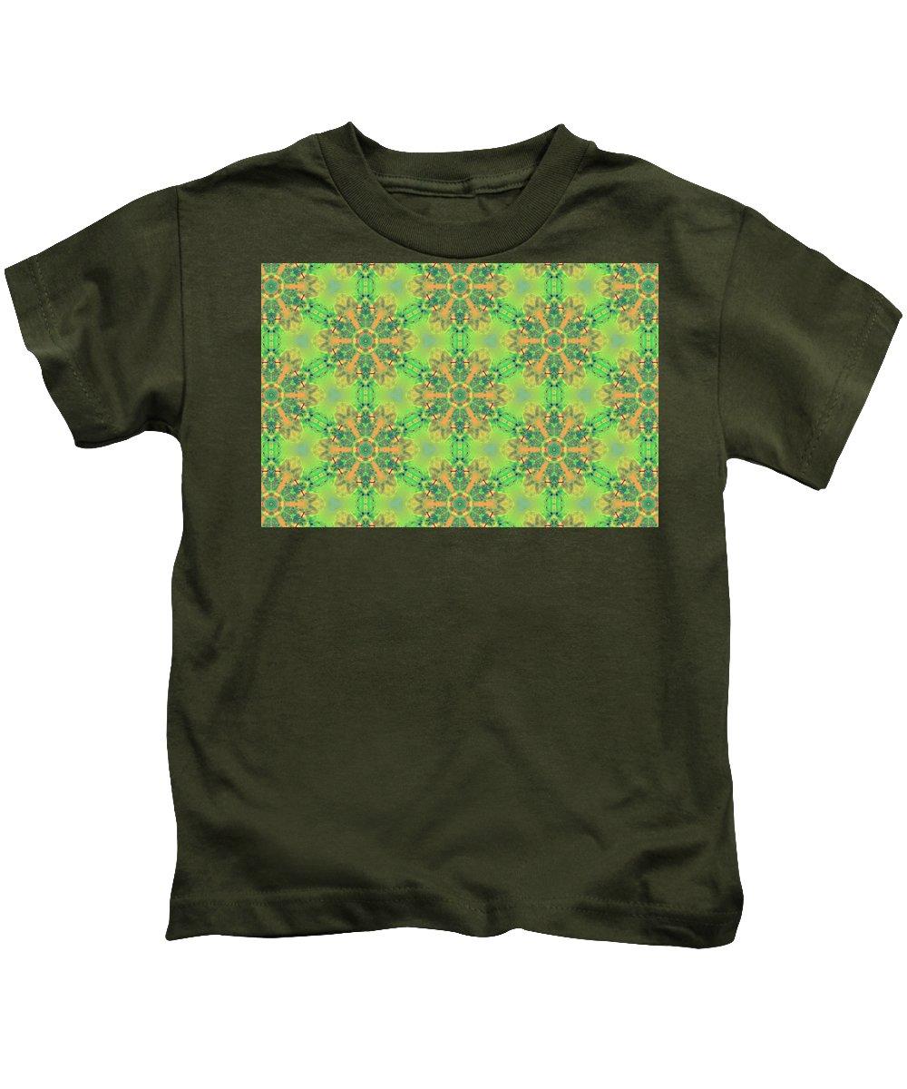 Marjan Mencin Kids T-Shirt featuring the digital art Arabesque 087 by Marjan Mencin
