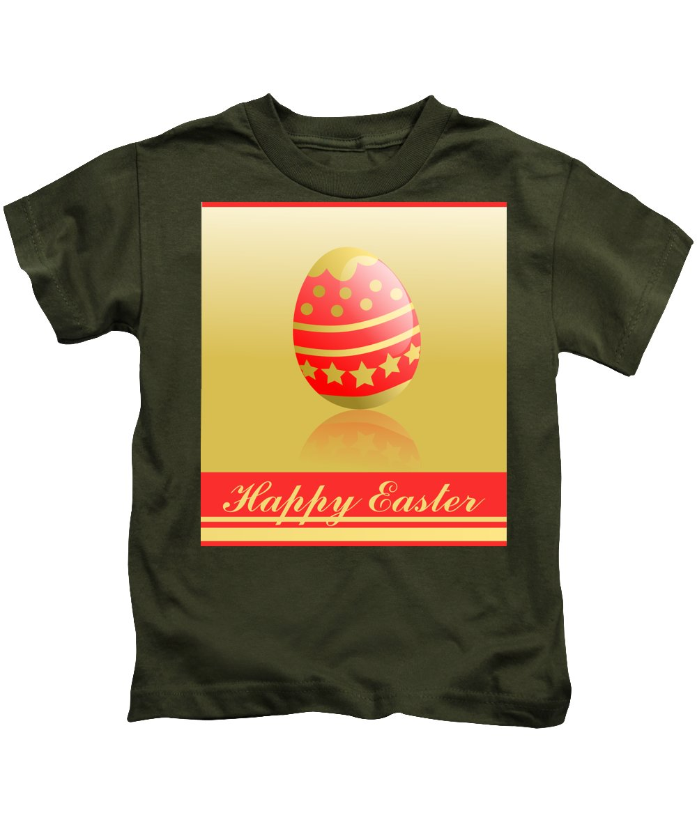 Witchcraft Kids T-Shirt featuring the digital art Easter. by Frederick Holiday