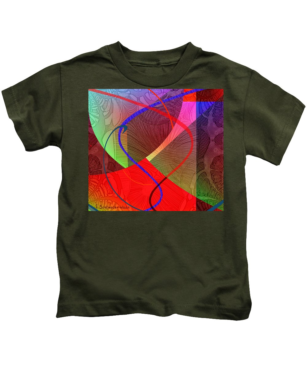Abstract Kids T-Shirt featuring the digital art 504 - Patterns 2017 by Irmgard Schoendorf Welch