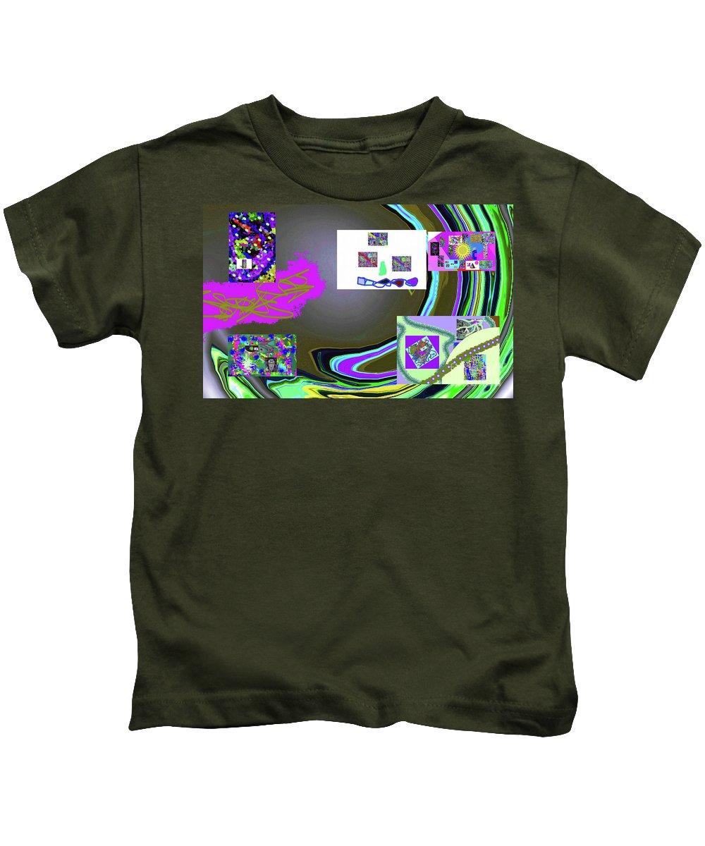 Walter Paul Bebirian Kids T-Shirt featuring the digital art 6-3-2015babcdef by Walter Paul Bebirian