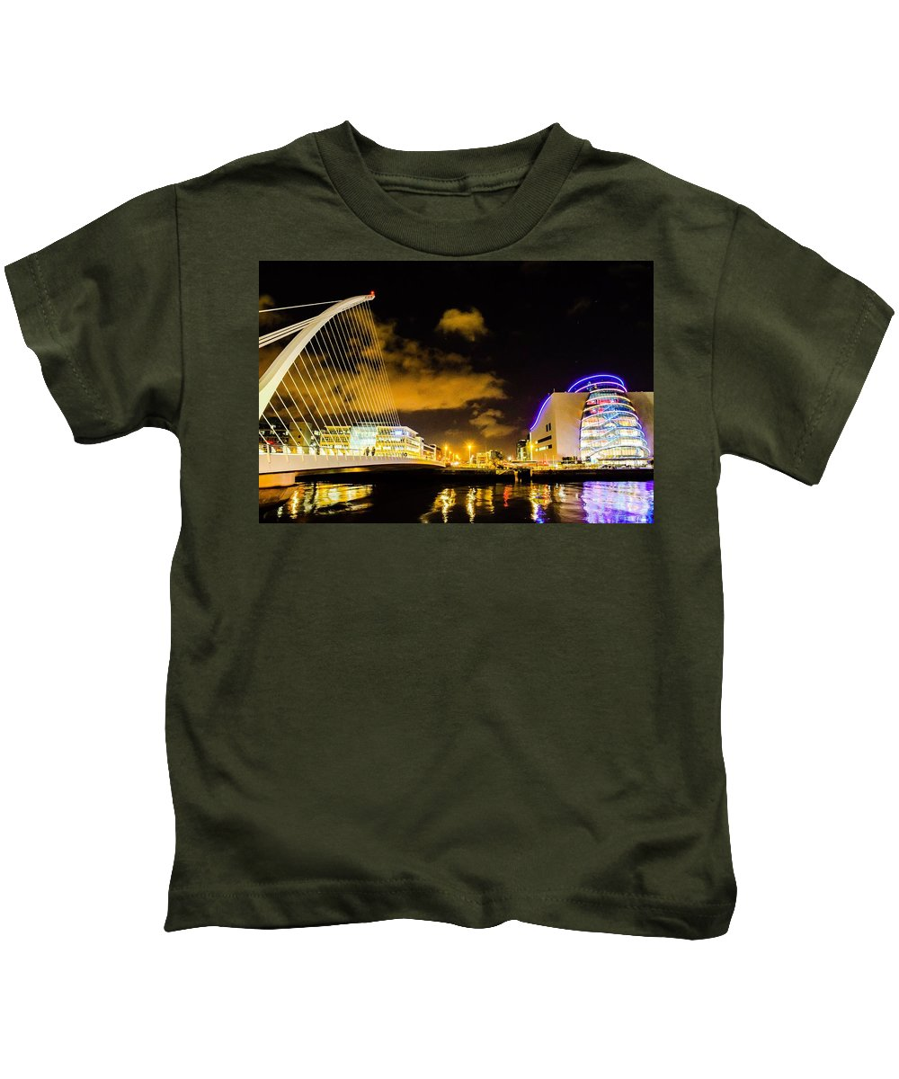 Water Kids T-Shirt featuring the photograph Cityscape by James Fitzpatrick
