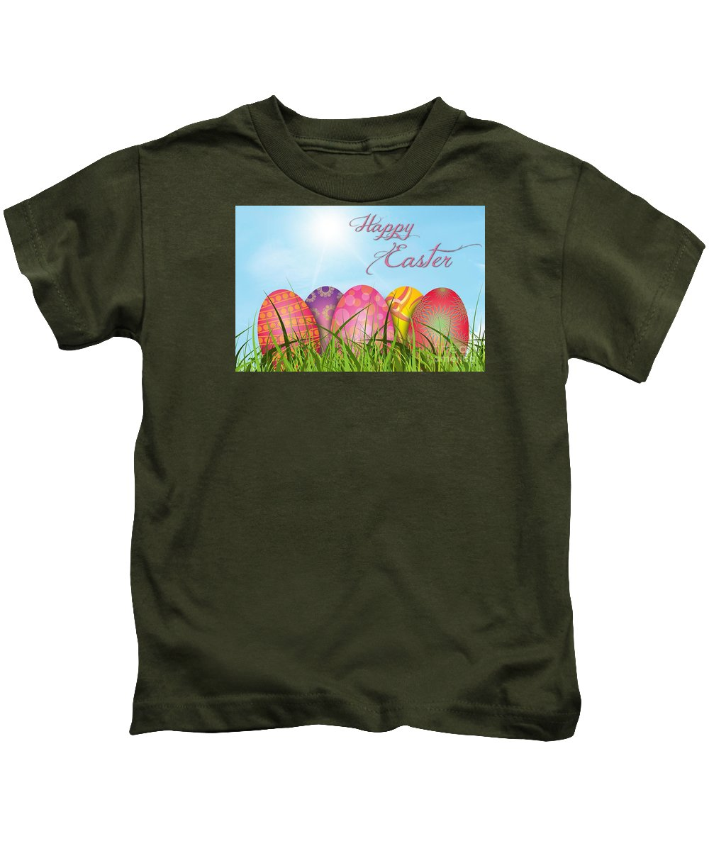 Witchcraft Kids T-Shirt featuring the digital art Easter by Frederick Holiday