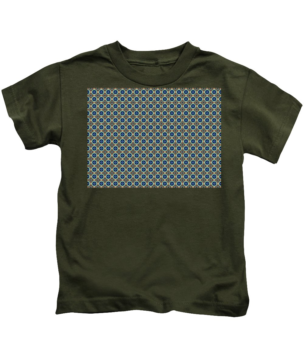 Marjan Mencin Kids T-Shirt featuring the digital art Arabesque 038 by Marjan Mencin
