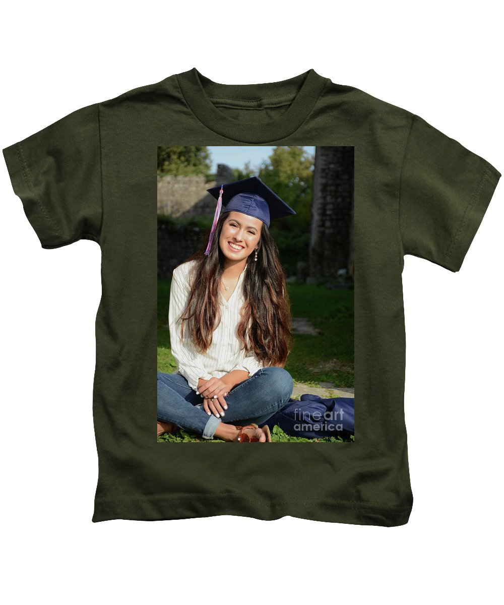 Liz Kids T-Shirt featuring the photograph Golden Hour Senior by Photos By Zulma