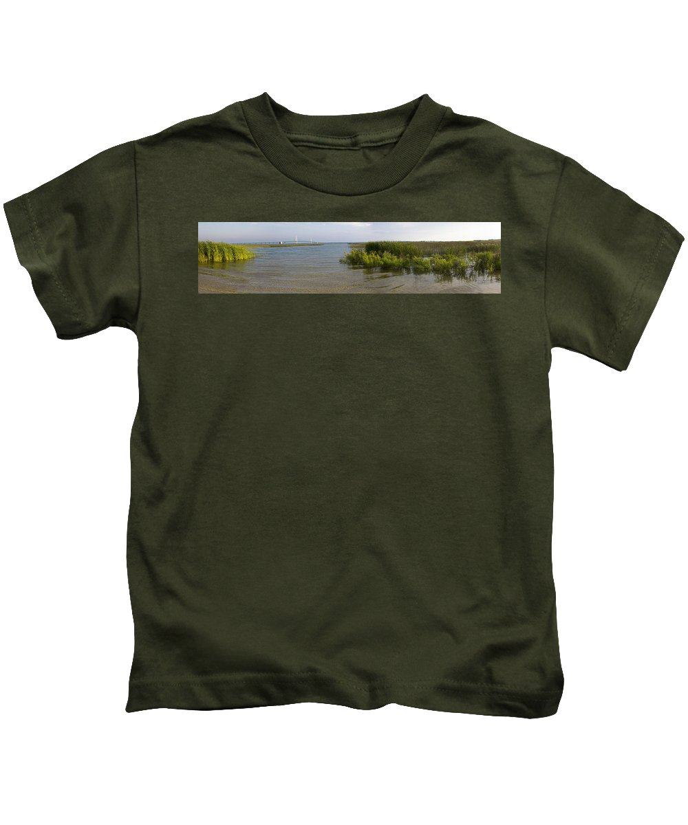 Mackinaw Kids T-Shirt featuring the photograph Mackinac Bridge by Tara Lynn