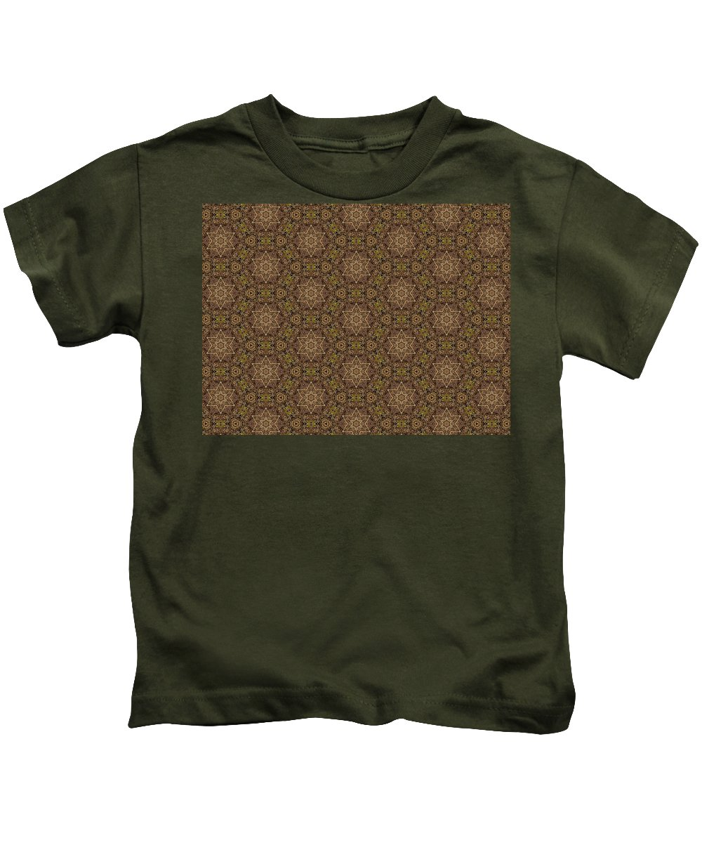 Marjan Mencin Kids T-Shirt featuring the digital art Arabesque 035 by Marjan Mencin