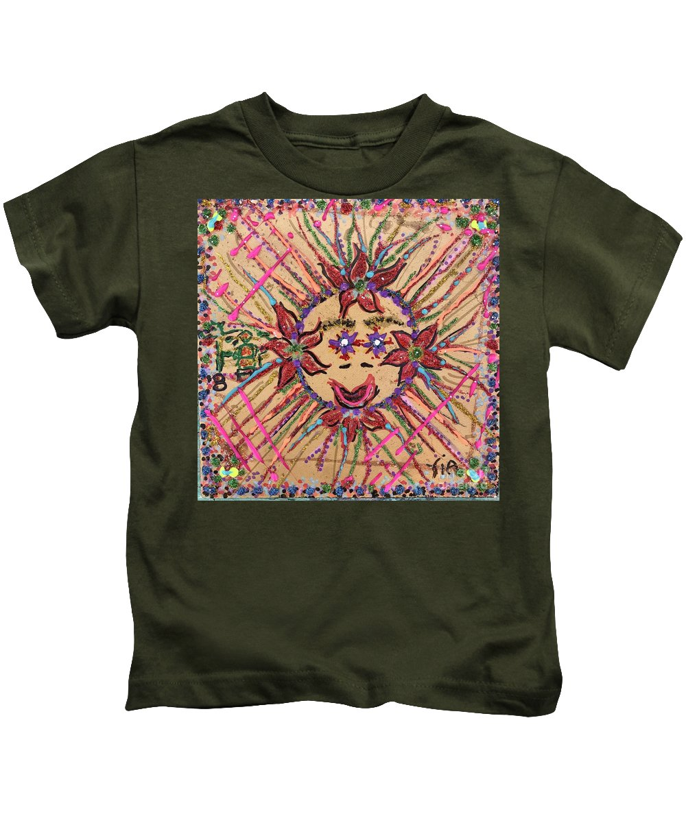 12 Days Of Christmas Kids T-Shirt featuring the mixed media 8th Day Of Christmas by Maria Pancheri